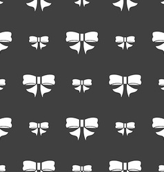 Ribbon Bow icon sign Seamless pattern on a gray vector image vector image