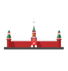 Russian main landmark with cone roofs and star on vector