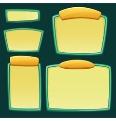 Set of cartoon empty boards vector image
