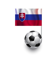 Soccer balls or footballs with flag of slovakia vector