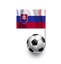 Soccer balls or footballs with flag of slovakia vector