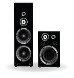 speaker two in black vector image vector image