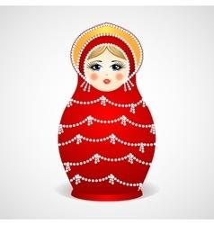 Russian traditional wooden toys babushka vector