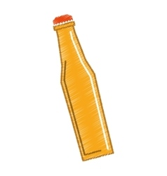 Yellow bottle closed cap vector