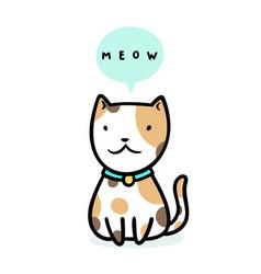 Cute kitty sitting vector