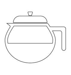 Teapot the black color icon vector