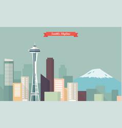 Seattle skyline vector