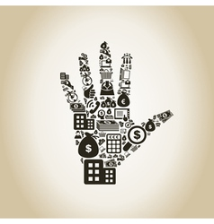 Business a hand2 vector