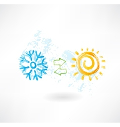 Climate control grunge icon vector