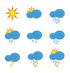 Icons for weather forecast vector