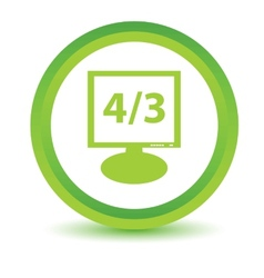 Green monitor icon vector