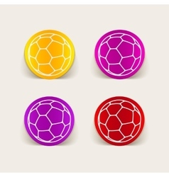 Realistic design element ball vector