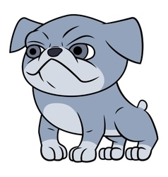 Bulldog puppy vector