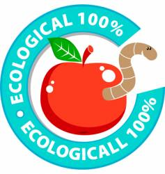 Ecologically pure product vector