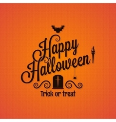 Halloween vintage lettering ornate background vector