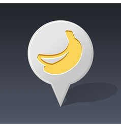 Banana pin map icon fruit vector