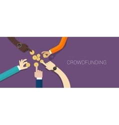 Crowd funding money vector
