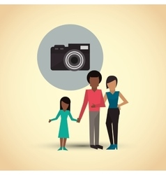 Flat of family design people icon vector