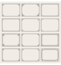 Decorative vintage frames and borders set vector image