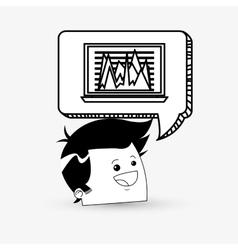 Business designCommunication icon Colorfull vector image