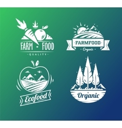 Farm food typography design on white background vector