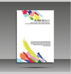 a4 minimal color design annual report brochure vector image vector image
