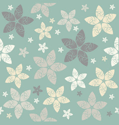 abstract pattern with decorative flowers vector image vector image