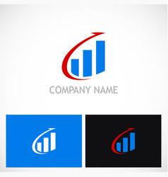 Arrow business finance stock logo vector