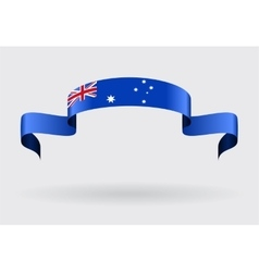 Australian flag background vector