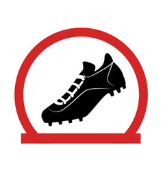 baseball shoes sport emblem icon vector image vector image