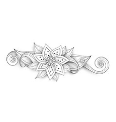 beautiful abstract monochrome floral composition vector image