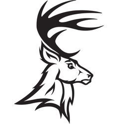 Deer head profile vector