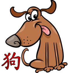 Dog chinese zodiac horoscope sign vector
