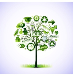 ecological idea tree vector image vector image
