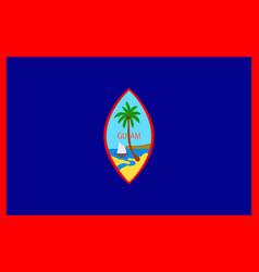 Flag of guam us hagatna - melanesia vector