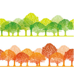 forest 3 spring and autumn vector image vector image