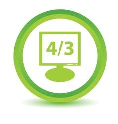 Green monitor icon vector