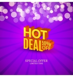 Hot deal sale 3d letters poster promotional vector
