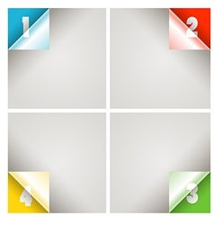 Infographic modern color scheme template vector image