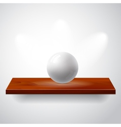 Isolated empty shelf for exhibit with gray ball vector