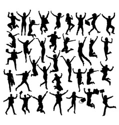 jump if you like business silhouettes vector image