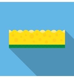 Kitchen sponges flat icon vector