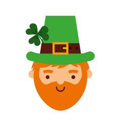 Leprechaun irish character icon vector