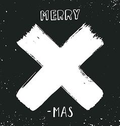 Merry X-mas vector image vector image