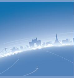 Mumbai skyline aerial view vector
