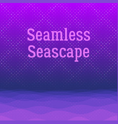 night sea seamless background vector image vector image