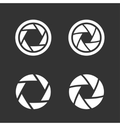 Shutter icons set vector image