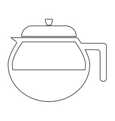 Teapot the black color icon vector