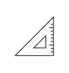 Triangle ruler outline icon vector