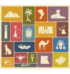Egyptian symbols vector